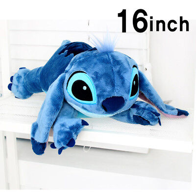 Soft&Cute 16inch Large Stitch Plush Toy Cushion Bed Body Pillow Decoration 400mm