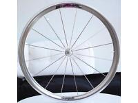 Campagnolo Shamal front wheel 700c complete with flat spokes, campagnolo hub & quick release QR £150
