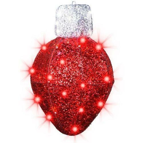 Outdoor lighted christmas ornaments ebay for Led outdoor christmas ornaments