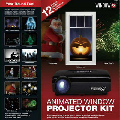 Animated Window Projector Atmos FX Kit Seasonal Display Decoration New in Box