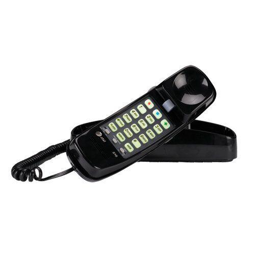 AT&T New Black Corded Home Desk Wall Mount Landline Phone Telephone Handset