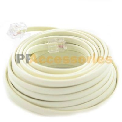 25 FT Feet RJ11 4C Modular Telephone Extension Phone Cord Cable Line Wire Beige