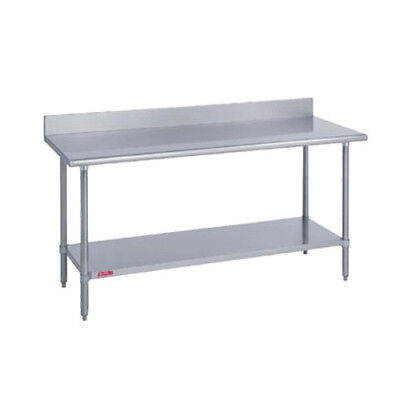 96wx30d Heavy Duty Work Table With 5 Riser Stainless Steel Undershelf