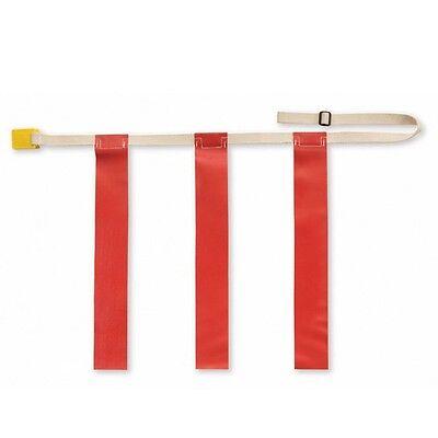 "Triple Threat Flag Football Belts - Triple Threat Flag Football Belt w/ Red Flag - LARGE: 32"" - 44"""