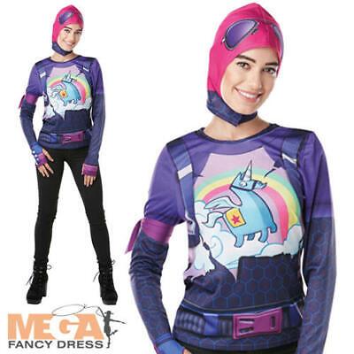 Fortnite Brite Bomber Ladies Fancy Dress Adults Game Halloween Womens Costume  - Adults Halloween Games