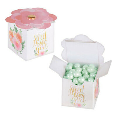 BABY SHOWER Sweet Floral MINI FAVOR BOXES (8) ~ Party Supplies Roses Girl Loot - Baby Shower Sweets