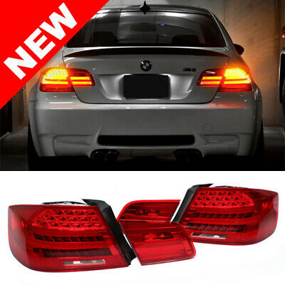LCI Conversion LED Rear Tail Lights For BMW E92 2DR Coupe Euro Amber Signals