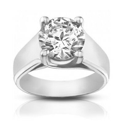 1.50 ct Ladies Round Cut Diamond Engagement Ring Best Quality