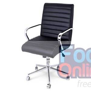 Executive PU Leather Gas Lift Office Computer Chair Black Melbourne CBD Melbourne City Preview