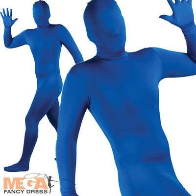 Blue Bodysuit Skinz Lycra Fancy Dress Skin Suit Halloween Christmas Stag Costume (Blue Skin Suit Kostüm)