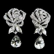 Bridal Clip on Earrings