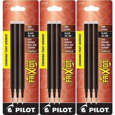 Pilot Gel Ink Refills For Frixion Erasable Gel Ink Pen Fine Point Black Ink...