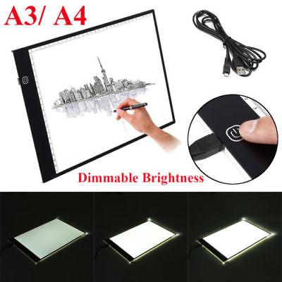A3/A4 LED Adjustable Tracing Light Box Drawing Board Pad Stencil Display Artist