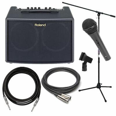 Roland AC-60 Acoustic Chorus Combo Guitar Amplifier - Black AMP PAK