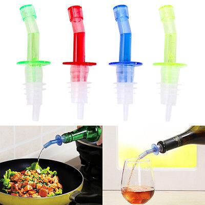 4pcs Bottle Pourer Pour Spout Stopper Liquor Olive Wine Dispenser Vinegar Ep