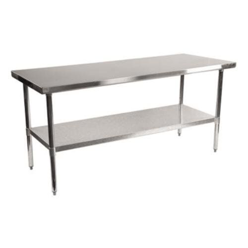 Alera ALEXS7230 Stainless Steel Table, 72 x 30 x 35, Silver