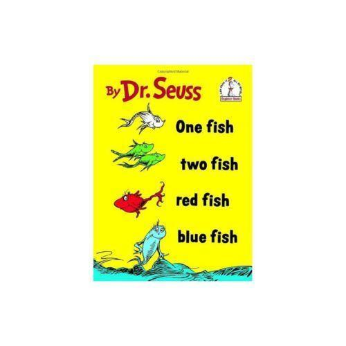 Dr seuss one fish two fish red fish blue fish ebay for Red fish blue fish dr seuss