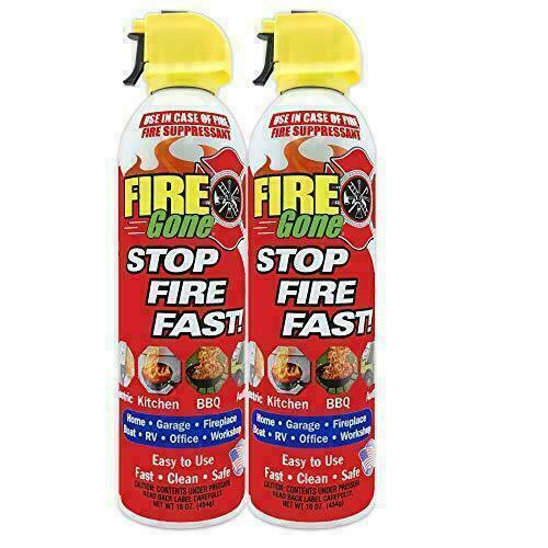 Fire Extinguisher FIRE GONE FG-007-102 16-oz 2 pk