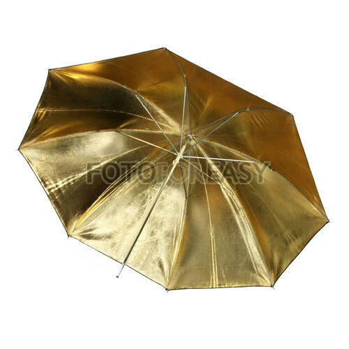 "33"" 83 Studio Flash Light Reflector Black Gold Umbrella"