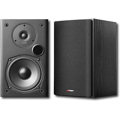 Polk Audio 2-Way Indoor Bookshelf Speaker in Black - Pair   T15