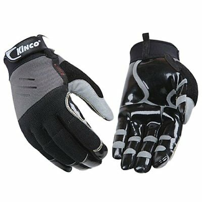 Kinco 2021 Mens Unlined Handler Gloves Mirax2 Synthetic Leather Palm Black