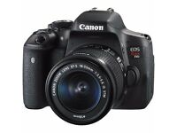 Canon 750d dslr with 18-55mm and 55-250mm lenses