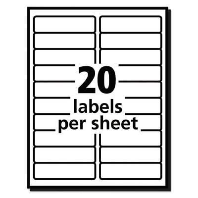 25 Sheets - 500 Blank Return Address Labels - 4 X 1 - Free Shipping