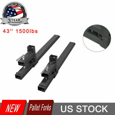 43 Inch 1500lbs Clamp On Pallet Forks Loader Bucket Tractor Stabilizer Bar Usa