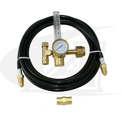 Low-cost Co2 Flow Meterregulator With Gas Hose Kit