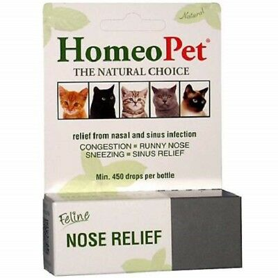 Homeopet Pet Feline Nose Natural Relief Nasal   Sinus Infection
