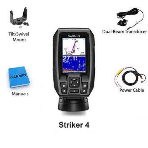 Garmin Striker 4 Fish Finder GPS Combo Depth Finder with Transducer 010-01550-00