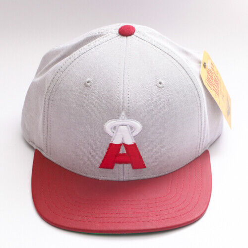 great fit order online lowest discount Los Angeles Angels Gray Red White Flat Brim Adjustable Snap Back ...