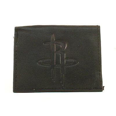 Houston Rockets Black Leather Tri-fold Wallet