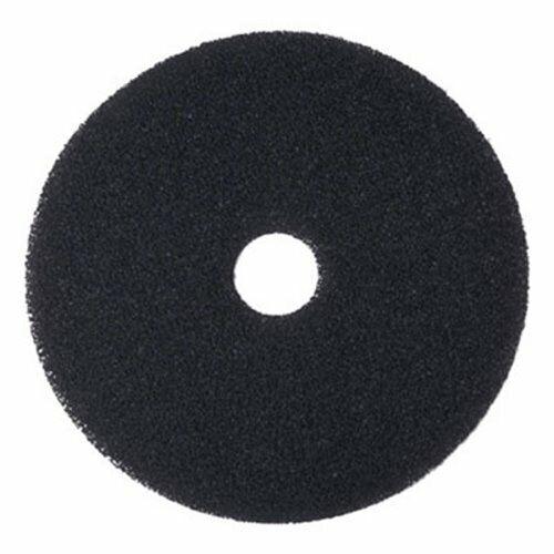 "Boardwalk Standard 20"" Black Stripping Floor Pads, 5 Pads (BWK4020BLA)"