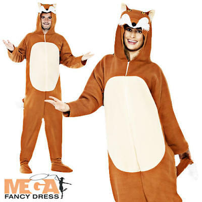 Fox Animal Adults Fancy Dress Book Week Character Mens Ladies Costume Outfit New
