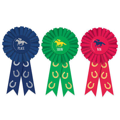 KENTUCKY DERBY AWARD RIBBON SET (3pc) ~ Birthday Party Supplies Favors (Kentucky Derby Party Supplies)