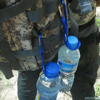 Aluminium Holder Clip Carabiner Water Bottle Camping Hook  Outdoor Hiking Gear