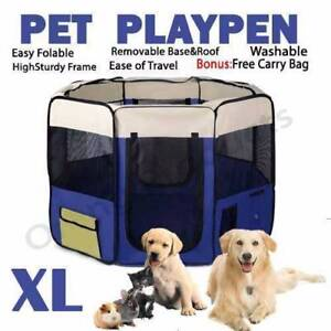 Brand New 2Pet Dog Puppy Cat Exercise Playpen Crate Cage Tent Blu