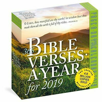 365 Bible Verses-A-Year Page-A-Day Calendar 2019  (365 Bible Verses)