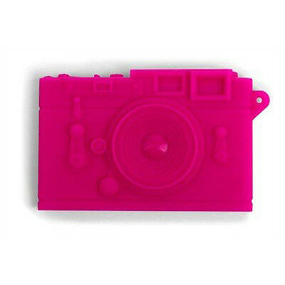 Kikkerland Pink Camera Businessname Card Case Carrier Or19-pk Flexible Silicone