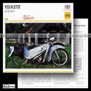 #024.05 VELOCETTE 200 LE MK2 1953 Fiche Moto Classic Motorcycle Card - France - État : Trs bon état: Livre qui ne semble pas neuf, ayant déj été lu, mais qui est toujours en excellent état. La couverture ne présente aucun dommage apparent. Pour les couvertures rigides, la jaquette (si applicable) est incluse. Aucune p - France