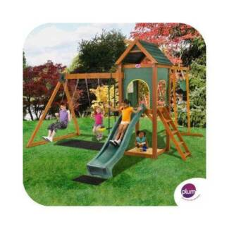 Plum Kudu Wooden Outdoor Play Centre Double Swing Slide Sand Pit Seven Hills Blacktown Area Preview