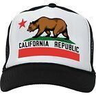 Baseball Cap California Black & White Hats for Men