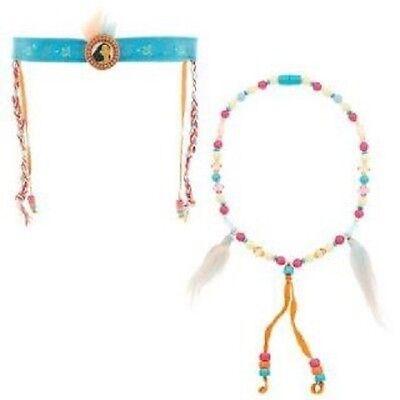 Pocahontas Dress Up (New Disney Pocahontas Dress Up Costume Necklace Crown Indian Princess Native)