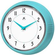 Retro Wall Clock Blue