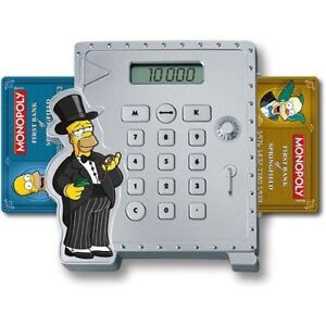 Simpsons Collectible Monopoly with Digital Bank Calculator