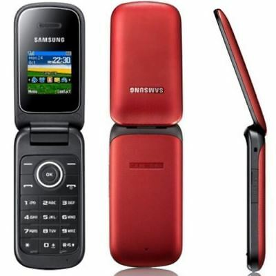 NEW CONDITION SAMSUNG E1190 RED FLIP CHEAP MOBILE PHONE - UNLOCKED