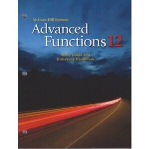 Mcgraw Hill Ryerson - Advanced Functions 12 Worbook