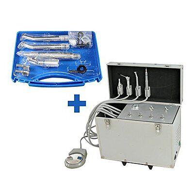 Dental Portable Turbine Unit Suction Air Compressor 4h High Low Handpieces 4h