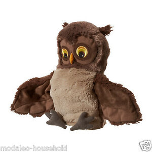 IKEA VANDRING UGGLA Brown Owl Glove Puppet Cuddly Toy Fits Large,Small Hand-B111